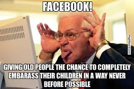 Social Media Meme - the elderly and social media scoop it
