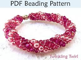 beaded bracelet pattern images Beading tutorial pattern bracelet necklace russian spiral stitch 37263