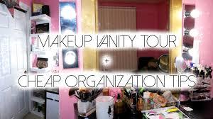 makeup vanity tour cheap easy diy makeup organization ideas