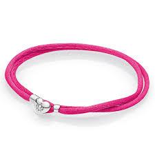 pandora pink fabric cord bracelet thanksgiving sale