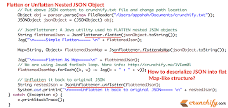 map n how to flatten or unflatten complex json objects into flat map