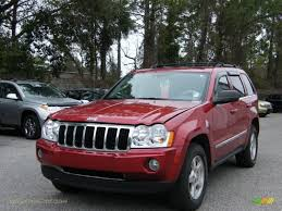 dark red jeep 2005 jeep grand cherokee limited in inferno red crystal pearl