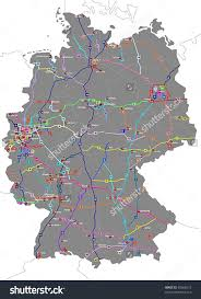 Germany On Map by Download German Autobahn Map Major Tourist Attractions Maps