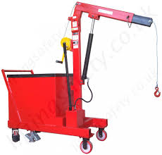 pivoting arm counterbalance workshop floor crane with hydraulic