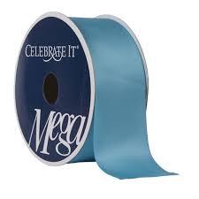 teal satin ribbon 1 5 satin ribbon by celebrate it mega