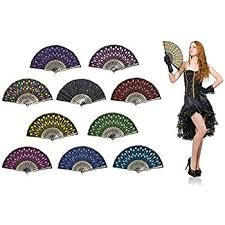 folding fans bulk omytea peacock folding held fans bulk for women
