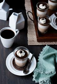 espresso and coconut vanilla bean panna cotta with salted espresso