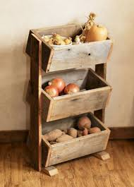 Rustic Kitchen Storage - charming kitchen vegetable storage and kitchens shelves decorating