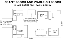 hotel lodging accommodation cabins in maine baxter state park grant brook wadleigh brook floorplan