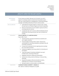 university resume sample athletic director resume samples templates and job descriptions athletic director resume job description