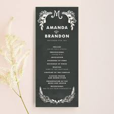 chalkboard wedding program chalkboard wedding style ideas inspiration mid south