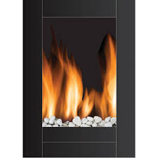 monaco vertical wall mounted led fireplace with remote control