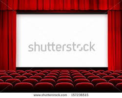 Movie Drapes Cinema Screen Red Curtains Seats Stock Illustration 157236515