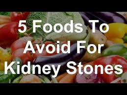 5 foods to avoid for kidney stones youtube