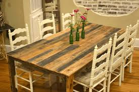 how to make a rustic table top metal and leather chairs buffet