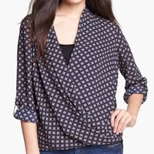 pleione blouse 86 pleione tops nordstrom pleione faux wrap blouse in coral