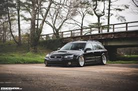 subaru legacy black rims getting it jay u0027s bagged subaru legacy outback stancenation
