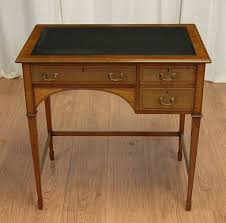 Small Writing Desk With Drawers Antique Style Walnut Writing Table Desk Drawers Home Small