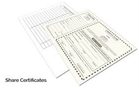 custom company share certificate printing online