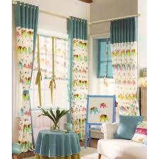 Green Curtains For Nursery Printed Elephant Pattern Nursery Curtain 2016 New Arrival