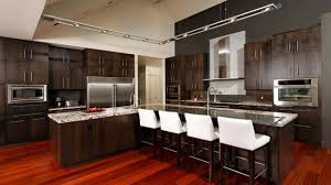 contemporary kitchen flooring hickory kitchen cabinets stained