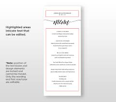 100 wedding menu free template free menu templates for word