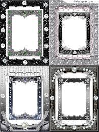 Decorative Frame Png 4 Designer Sparkling Crystal Decorative Frame Png Material