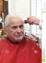 grandpa gets a haircut stock image image 11016841