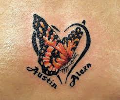 butterfly name child name tattoos