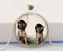 art glass dog ring holder images Smoking dog necklace creepy jewelry steampunk art glass dome jpg
