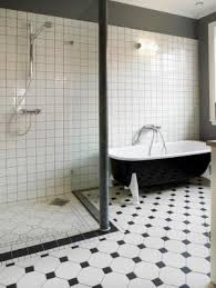 Black And White Bathrooms Ideas Modern Black And White Floor Tiles In The Bathroom Pictures