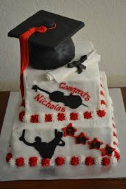 red u0026 black graduation cake cakecentral com