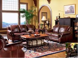 Genuine Leather Living Room Sets Cognac Leather Sofa Decorating Ideas Turner Leather Upholstered