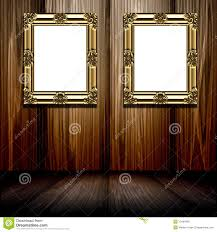 gold frames in wood room stock photo image 10460490