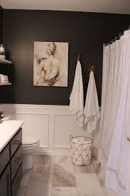 Bathroom With Black Walls 33 Wainscoting Ideas With Pros And Cons Digsdigs