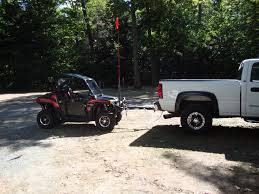 how can i best tow my rzr behind my truck using the hitch from