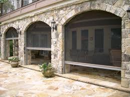 phantom retractable screens in stone archway