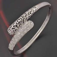 white gold bracelet bangles images Deluxe white gold cz bangle gold jewelry gold jewelry online shop jpg