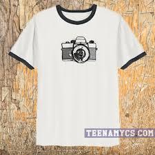 vintage camera sketch ringer t shirt teenamycs
