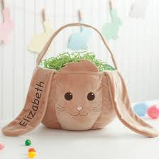 personalized bunny easter basket personalized wicker easter basket brown bunny walmart