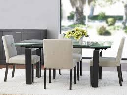 Scandinavian Designs Caroline Dining TableVenge  SKU M - Glass dining room table with extension