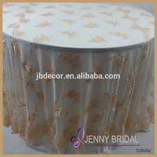 Lace Table Overlays Tl002r2 Alibaba Embroidery Gold Lace Round Cheap Wedding Table