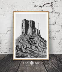 black and white desert mountains print south western wall art