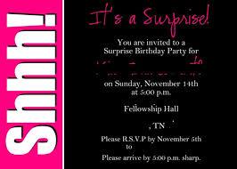 surprise birthday invite wording images invitation design ideas