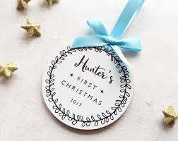 Baby First Christmas Bauble Personalised by Baby First Christmas Etsy