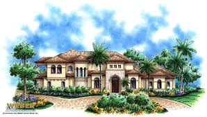 Home Plans Mediterranean Style Mediterranean House Plan 2 Story Waterfront Golf Course Home Plan