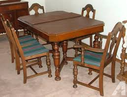 1930 Dining Table 1930 S Table Chairs And Buffet Walnut For Sale In Spokane