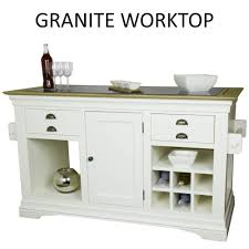Ex Display Kitchen Island For Sale by Palais Cream Painted Furniture Large Granite Top Kitchen Island