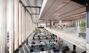 open floor plan office space google unveils huge new london hq landscraper next to kings cross