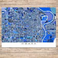 Nebraska Usa Map by Omaha Map Print Nebraska Usa U2013 Maps As Art